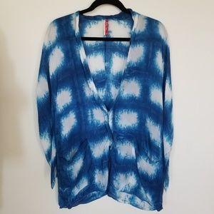 Tops - Shibori Style Tie Dye Kimono